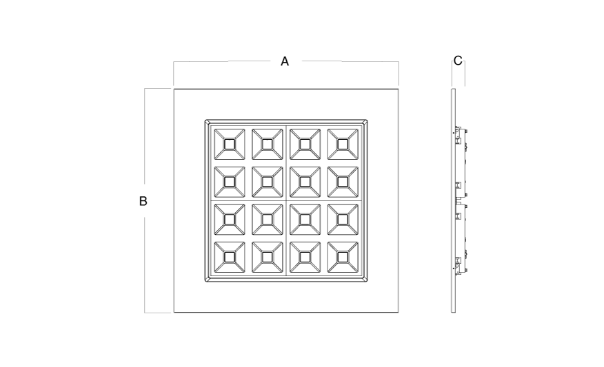 LOGIK Recessed module line drawing