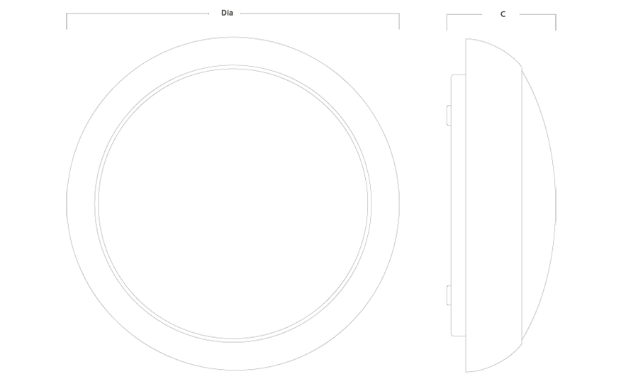 ORION LED Circular bulkhead  line drawing