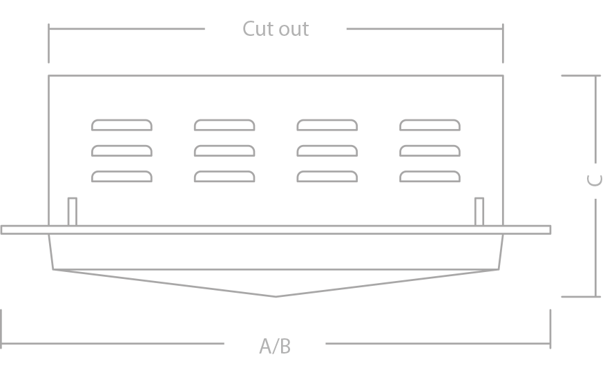 TROJAN ACRY LARGE Recessed canopy line drawing