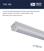 TBX NB product leaflet cover image