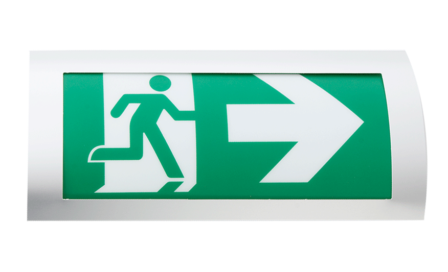 Elite Modern Architectural Emergency Exit Sign 3 Hours